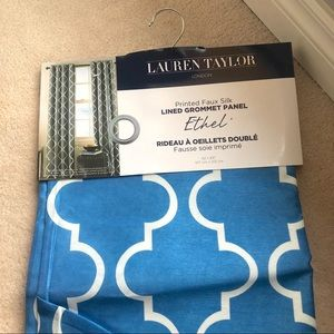 Lauren Taylor Blue Printed Curtain
